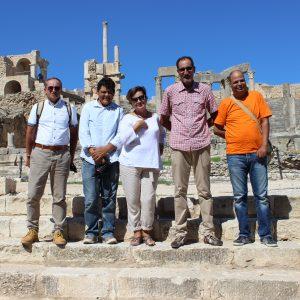 Od lewej: prof. T. Waliszewski, dr M. Torchani, dr hab. M. Rekowska, dr J. Hajji, dr M. Ben Nejma. Fot. M. Rekowska