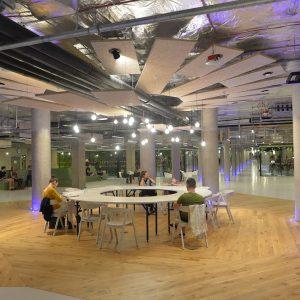 Otwarcie przestrzeni sportowej w podziemiach BUW