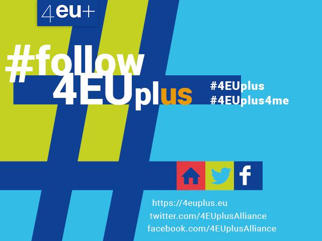 Grafika 4EU+ media społecznościowe sojuszu