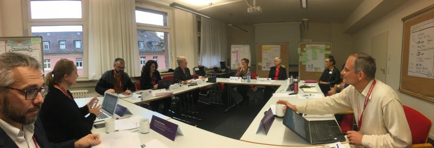 """Spotkanie partnerów projektu """"Akademickie Partnerstwo na rzecz Innowacji w Nauczaniu i Uczeniu się"""" w Heidelbergu."""