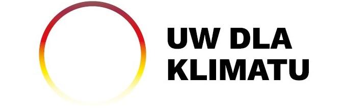 """Logotyp """"UW dla klimatu"""""""
