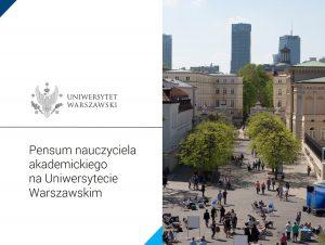 """Prezentacja pdf """"Pensum nauczyciela akademickiego na Uniwersytecie Warszawskim"""""""