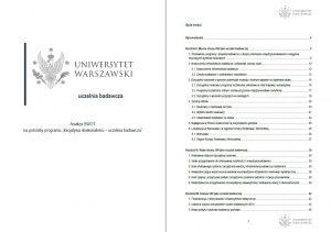 """Analiza SWOT na potrzeby programu """"Inicjatywa doskonałości – uczelnia badawcza"""""""