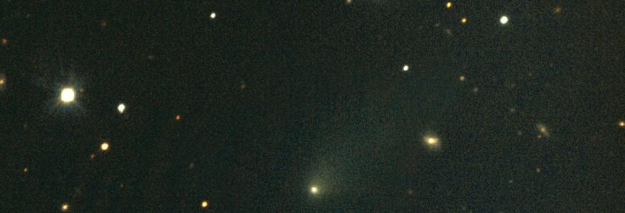 Kometa 2I/Borisov sfotografowana na tle gwiazd (30 listopada 2019 r.). Fot. K. Rybicki, Sz. Kozłowski/OGLE.