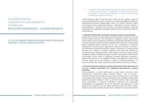 """Dokument """"Cele działań w zakresie podniesienia poziomu jakości działalności naukowej i poziomu kształcenia"""""""
