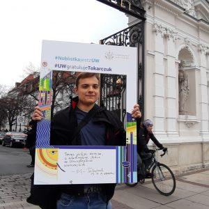 Karol Szymański, student biotechnologii