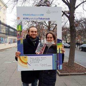 Karolina Maszkiewicz i Jakub Majchrzak, studenci Wydziału Geografii i Studiów Regionalnych