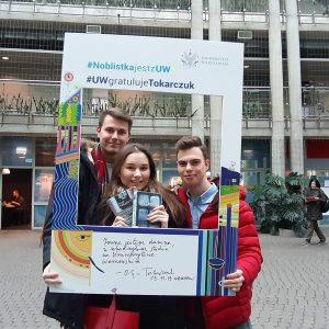 Studenci prawa: Inga Grela, Aleksander Torosiewicz, Damian Łysiak