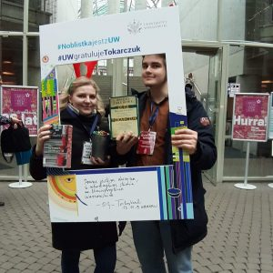 Studenci prawa: Katsiaryna Nenartovich, Julian Bień