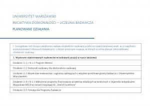 """Dokument """"Planowane działania w latach 2020-2026"""""""