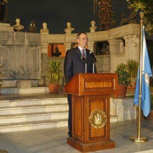 Przemowa dr. Michała Łabendy, ambasadora RP w Egipcie (fot. M. Jawornicki)