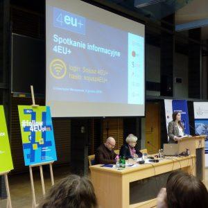 Spotkanie informacyjne 4EU+ na UW.