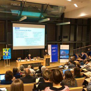Spotkanie informacyjne 4EU+ na UW. Źródło: Konto Twitterowe dr Kingi Torbickiej z Ośrodka Kultury Francuskiej UW.