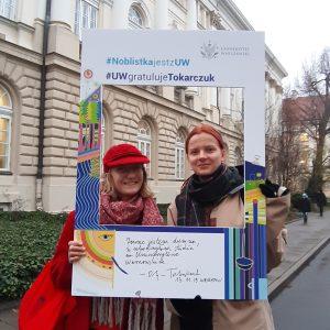 Studentki Martyna Stępień i Maria Benton