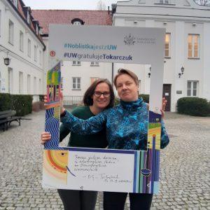 Justyna Kulawiak, Joanna Pachulska z biura Zarządu Samorządu Studentów