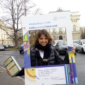 Julia Zalewska-Biziuk, studentka Wydziału Nauk Politycznych i Studiów MIędzynarodowych
