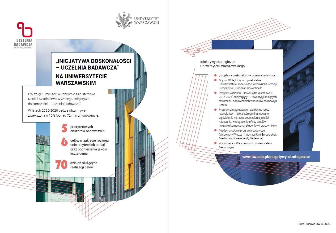 Folder o Inicjatywie doskonałości na UW