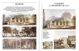 """Publikacja poświęcona konkursowi na koncepcję architektoniczno-urbanistyczną dla inwestycji """"Budowa budynku na kampusie głównym (górny dziedziniec)"""""""