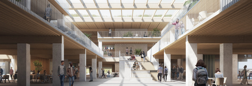 Wizualizacja pracowni BBGK Architekci sp. z o.o. Projekt pracowni BGGK Architekci zajął I miejsce w konkursie architektonicznym na projekt budynku przy ul. Bednarskiej.