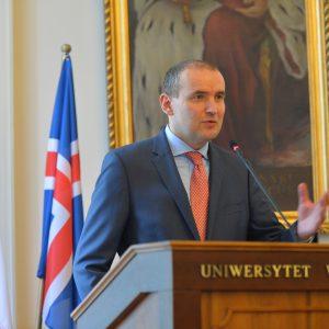 Wizyta prezydenta Islandii na UW.