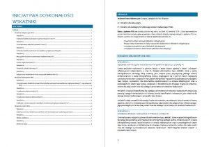 """Wskaźniki określające realizację celów UW w programie """"Inicjatywa doskonałości – uczelnia badawcza"""