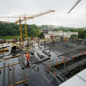 Budowa II etapu budynku przy ul. Dobrej 55, czerwiec 2020 r. Fot. M. Kaźmierczak