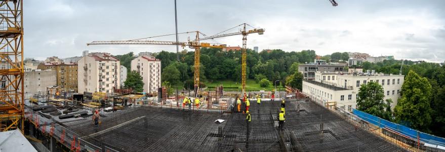 Budowa II etapu budynku przy ul. Dobrej 55