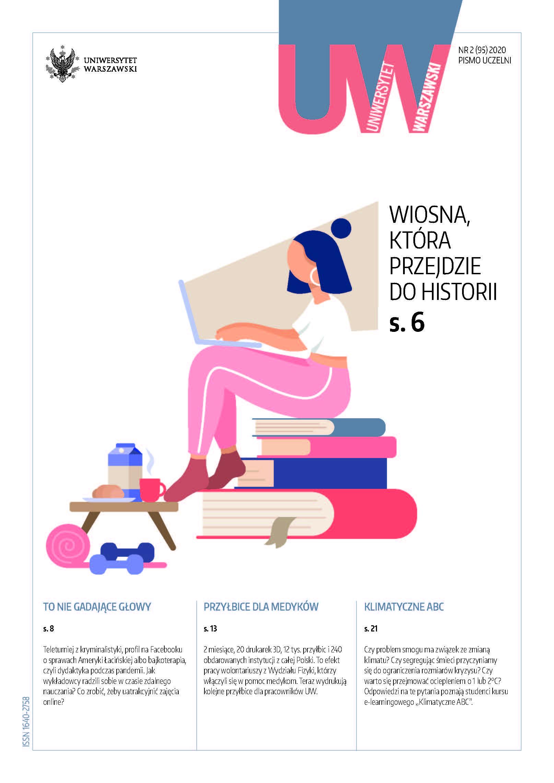 Okładka pisma uczelni, numer letni, 95-2, 2020 zdjęcie