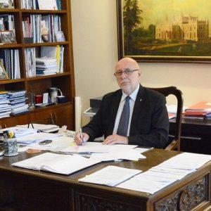 Prof. Jan Szmidt, rektor PW. Fot. PW