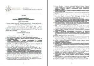 """Zarządzenie nr 115 rektora UW z 1 czerwca 2020 r. w sprawie realizacji programu ,,Inicjatywa doskonałości – uczelnia badawcza"""" na UW"""