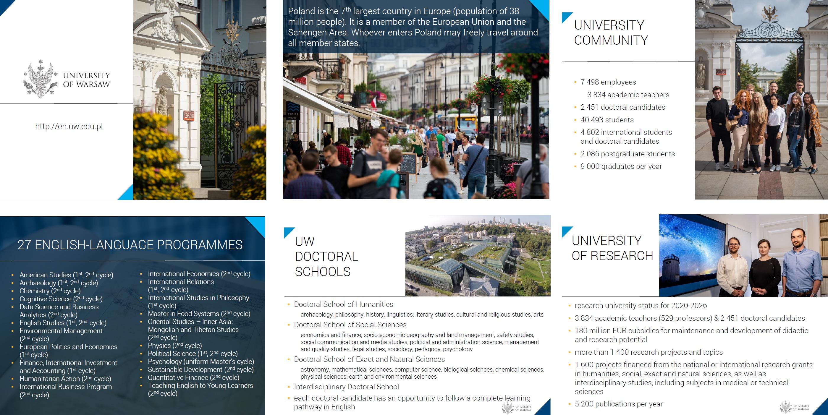 Prezezntacja o UW w języku angielskim, wersja dłuższa