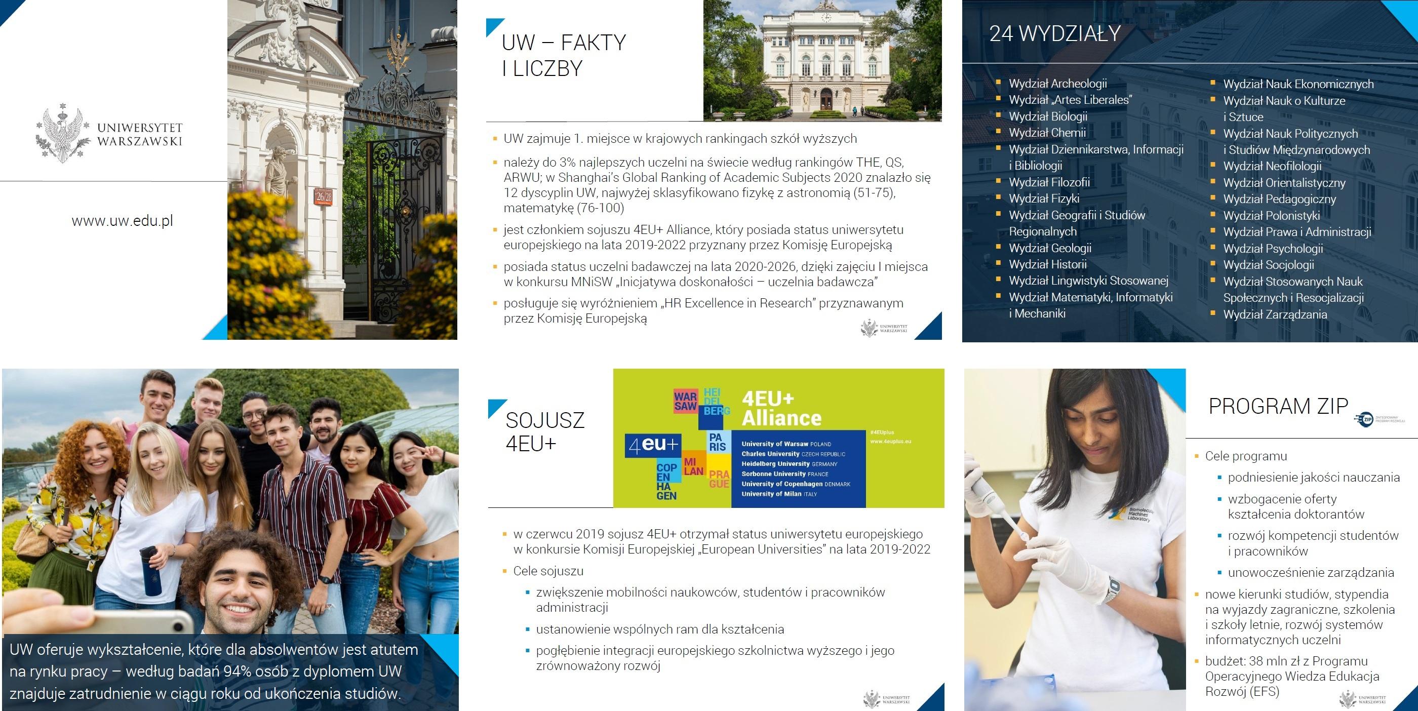 Prezentacje o Uniwersytecie na rok 2020/2021