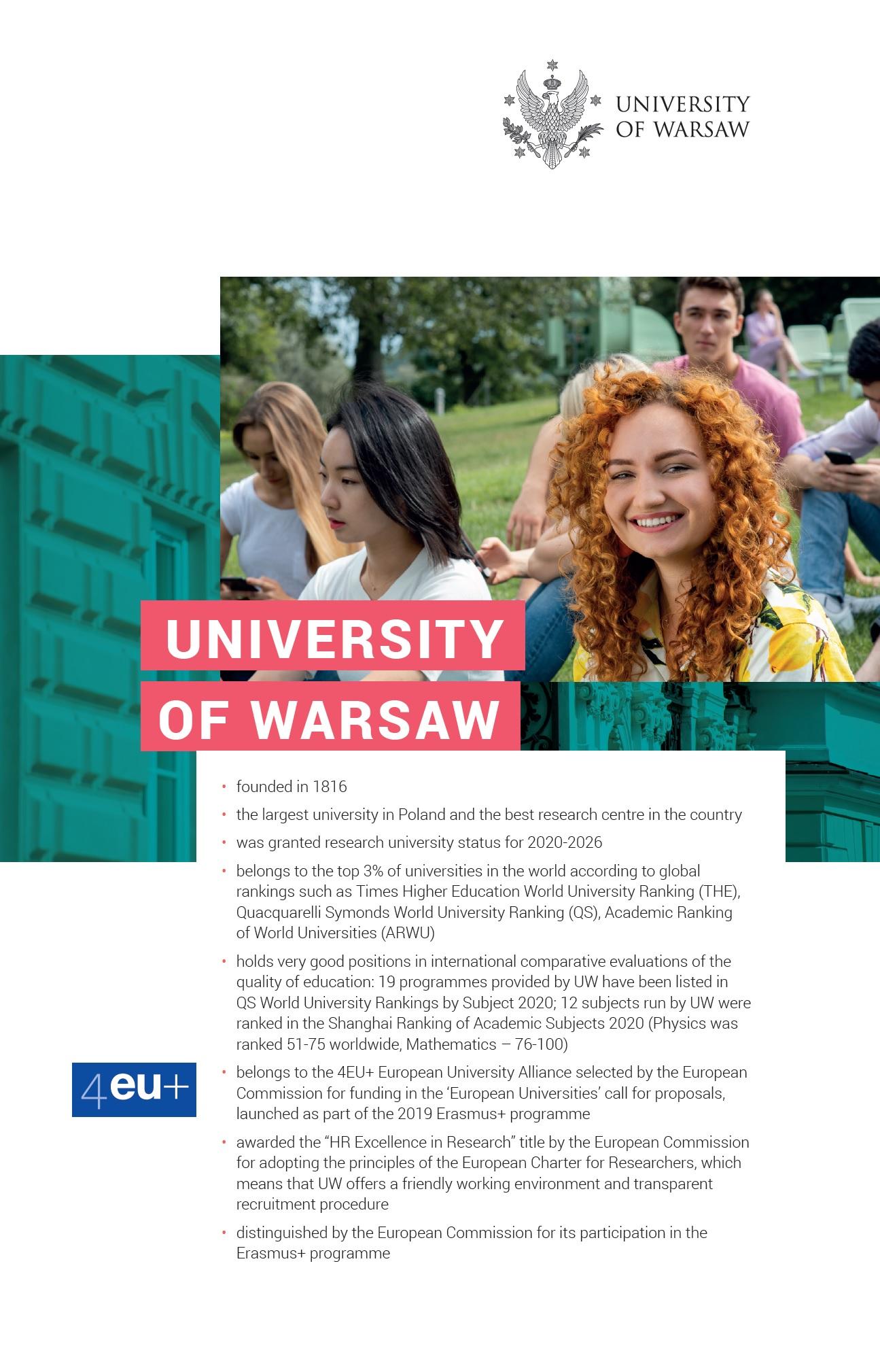Folder o UW 2020/2021, język angielski