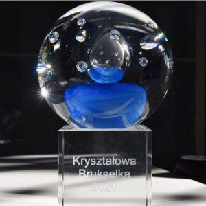 Statuetka Kryształowej Brukselki 2020. Fot. KPK PB UE.