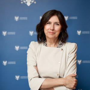 prof. Ewa Krogulec, prorektor UW