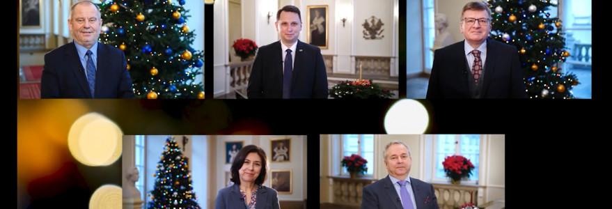 Święta - zdjęcie zespołu rektorskiego 2020