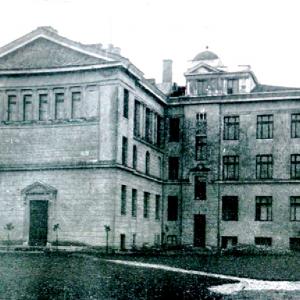 Zdjęcia archiwalne, źródło: Wydział Fizyki UW. Budynek UW przy ul. Hożej 69.