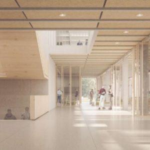 Wizualizacja budynku przy ul. Furmańskiej wg koncepcji pracowni Piotr Bujnowski Architekt