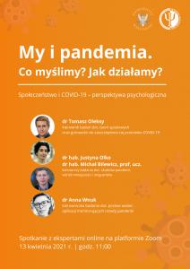Grafika dotycząca spotkania My i pandemia