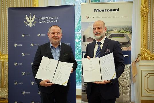 Podpisanie umowy z Mostostalem