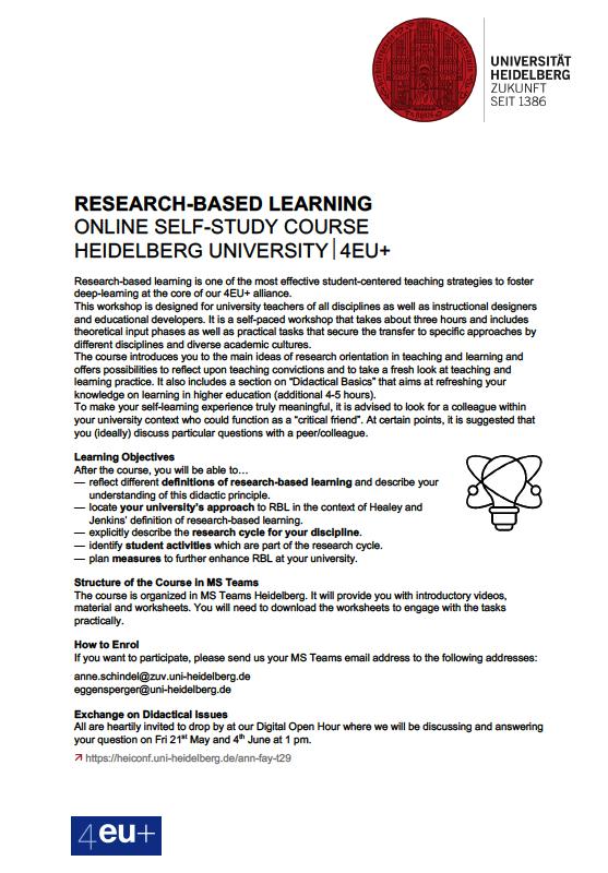 Warsztaty o nauczaniu dla doktorantów i nauczycieli akademickich organizowane przez Uniwersytet w Heidelbergu.