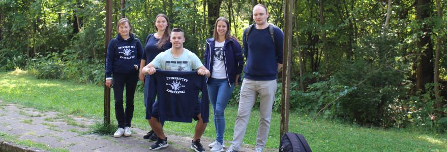 Zdjęcie studentów z Instytutu Germanistyki Wydziału Neofilologii UW