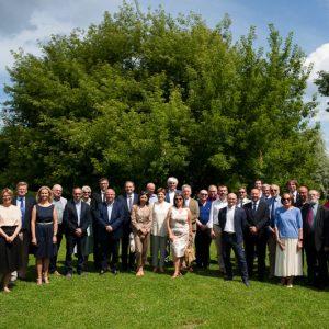 Uroczystość zakończenia I edycji Akademii Dziekanów na UW. Fot. Międzynarodowe Centrum Zarządzania UW.