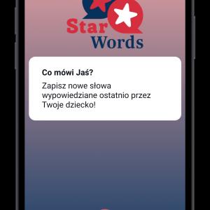 """Naukowcy z zespołu MultiLADA, który działa na Wydziale Psychologii UW, opracowali aplikację mobilną do obserwowania najwcześniejszego rozwoju językowego dzieci. """"StarWords – every word counts"""" to pierwsza tego typu aplikacja w Polsce."""