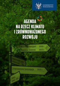 Agenda na rzecz klimatu i zrównoważonego rozwoju.